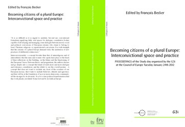 Becoming citizens of a plural Europe: Interconvictional space and practice